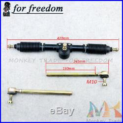 110cc Go Kart Quad Parts 300mm Steering Wheel Assembly 6 inch Steering Knuckle