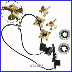 125cc-250cc ATV Front Steering Knuckle Spindle Wheel Hub Assembly Caliper Rotor