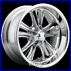 18 Inch 5x114.3 4 Wheels Rims 18x8 +1mm CHROME PLATED FOOSE 1PC F097 KNUCKLE