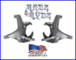 1971-1991 Chevy C20 GMC C2500 3 Lowering Kit Spindles 8 LUG Bolt on Calipers