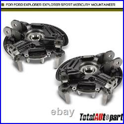 2Pcs Rear Wheel Bearing Hub Knuckle Assembly Steel for Ford Explorer 2002-2005