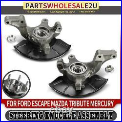2x Front Left & Right Wheel Hub Bearing Steering Knuckle for Ford Escape Tribute