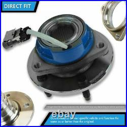 Front Driver & Passenger Wheel Hub & Bearing Assembly & Steering Knuckle Spindle