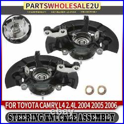 Front Left & Right Wheel Bearing Hub Knuckle Assembly for Toyota Camry 2004-2006