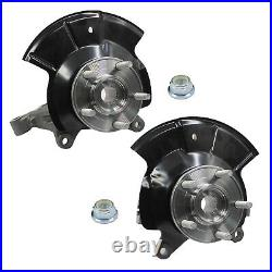 Front Left + Right Wheel Hub Bearing & Knuckle Assembly Fits 2007-2010 Ford Edge