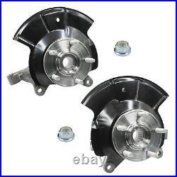 Front Left + Right Wheel Hub Bearing & Knuckle Assembly Fits 2011-2014 Ford Edge