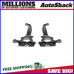 Front Steering Knuckle Spindle Pair 2 for 2010-2014 Ford F-150 3.5L 5.0L 5.4L V8