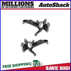 Front Steering Knuckle Spindle Pair 2 for Ford Fusion Lincoln MKZ Mercury Milan