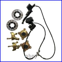 Front Steering Knuckle Spindle Wheel Hub Assembly Caliper Rotor 150cc-250cc ATV