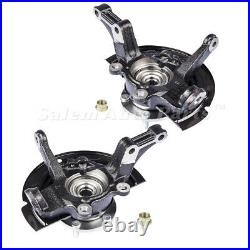 Front Steering Knuckle & Wheel Hub Assembly for 02 06 Nissan Altima 2.5L Pair