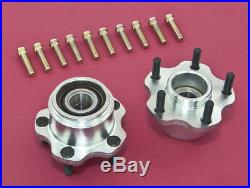 Front Wheel Bearing 5-Lug Conversion Hub With Extended Studs For 240SX 89-94 S13