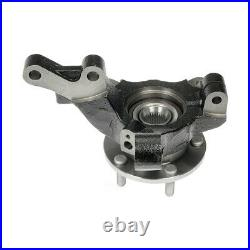 Front Wheel Hub Bearing & Steering Knuckle Assembly Pair 2 for Dodge Caliber