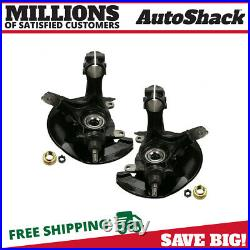 Front Wheel Hub Bearing & Steering Knuckle Assembly Pair 2 for Honda Accord 2.4L