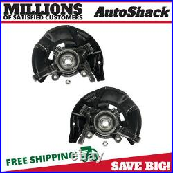 Front Wheel Hub Bearing & Steering Knuckle Assembly Pair 2 for Kia Optima 2.4L