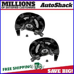 Front Wheel Hub Bearing & Steering Knuckle Assembly Pair 2 for Lexus RX350 3.5L