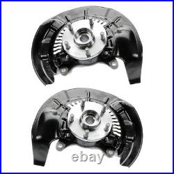 Front Wheel Hub Bearing & Steering Knuckle Assembly Pair 2 for Toyota Highlander