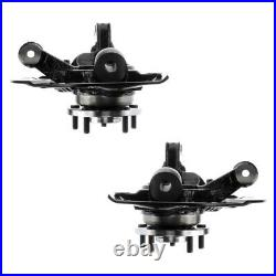 Front Wheel Hub Bearing & Steering Knuckle Assembly Pair 2 for Toyota Sienna V6