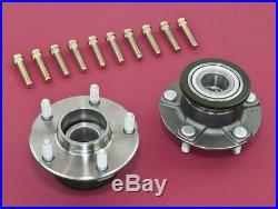 Front Wheel Non-ABS 5-Lug Conversion Hub With Extended Studs For 240SX 95-98 S14