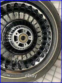 HARLEY FLHTK Ultra Classic Limited CHROME WHEEL 2009 REAR Knuckles (OUTRIGHT)