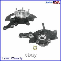Left+Right Wheel Hub Bearing Steering Knuckle Assembly Front For Nissan Altima