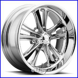 Staggered Foose F097 Knuckle Front18x8, Rear18x9.5 5x114.3 Chrome Wheels Rims