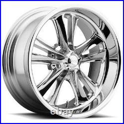 Staggered Foose F097 Knuckle Front18x8, Rear18x9.5 5x4.75 Chrome Wheels Rims