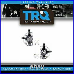 TRQ Front Wheel Bearing & Hub Assembly with Knuckle Pair for Dodge Jeep New