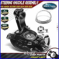 Wheel Bearing Hub Knuckle with Dust Shield for Honda Accord 2013-2016 Front Left